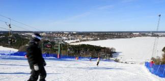 The Flottsbro ski slope in Huddinge, Stockholm