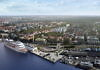 New location for cruise ships in Gothenburg: the America Cruise Terminal, a historic quay from the era of the Swedish American Line