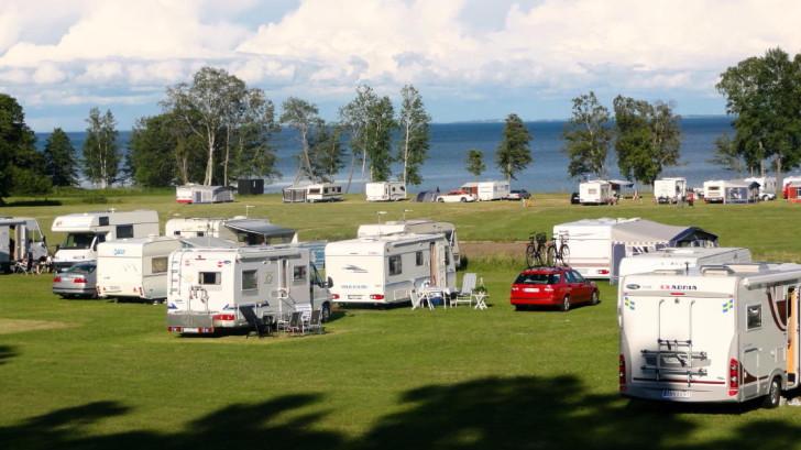 Breviks Camping, Hjo, Lake Vättern