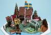 Gingerbread houses at ArkDes in Stockholm