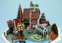 Gingerbread houses at ArkDes in Stockholm
