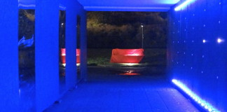The Lights in Alingsås festival, an urban lighting exhibition in October