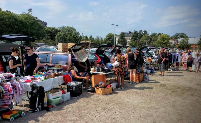 Flea market in Gothenburg