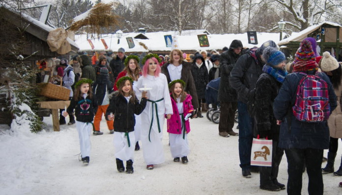 The Feast of St. Lucia, December 13: Lucia celebrations at Skansen, Stockholm