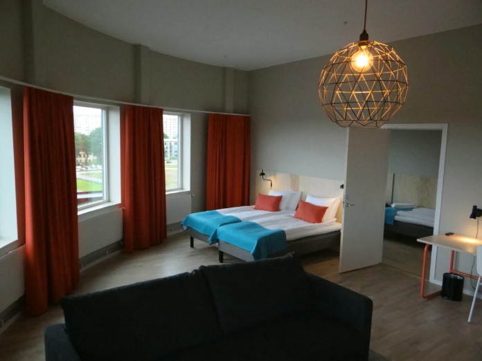 Hotel room at Gothenburg's new arena