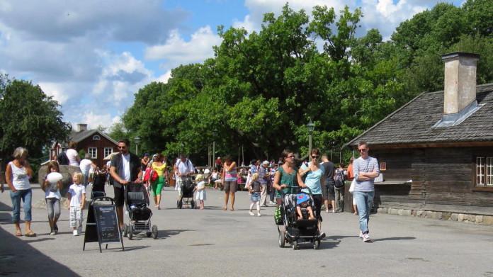 Skansen open-air museum in Stockholm