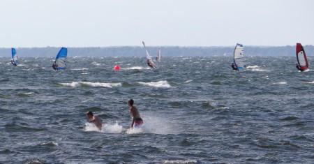 Windsurfing on the island of Öland, Sweden