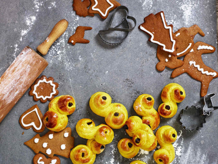 Swedish lussekatter and gingerbread