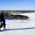 The Flottsbro ski slope in Huddinge, Stockholm