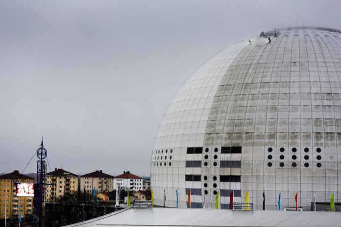 The Stockholm Globe gets a facelift before the Eurovision