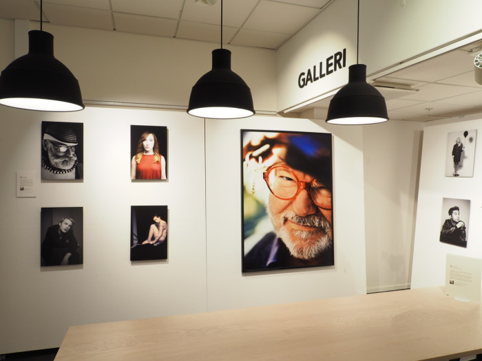 Photo gallery at the Scandinavian Photo store in Stockholm, Sveavägen