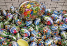 Swedish Easter eggs filled with candy