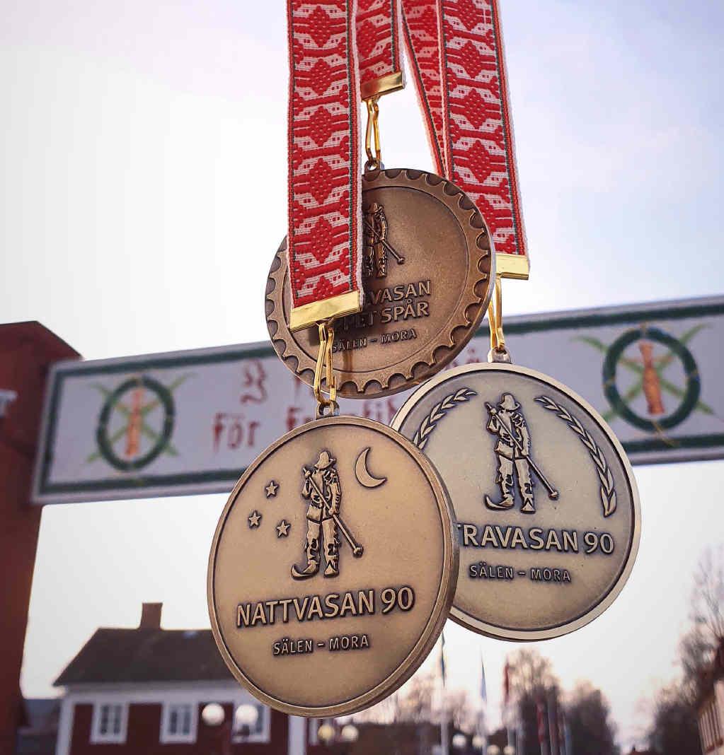 Vasaloppet medals 2020