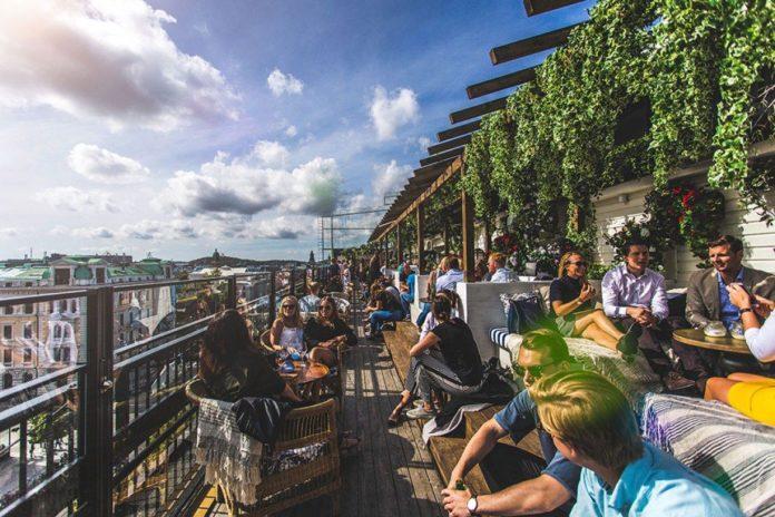 Lifstye hotel Bellora's rooftop bar in Gothenburg