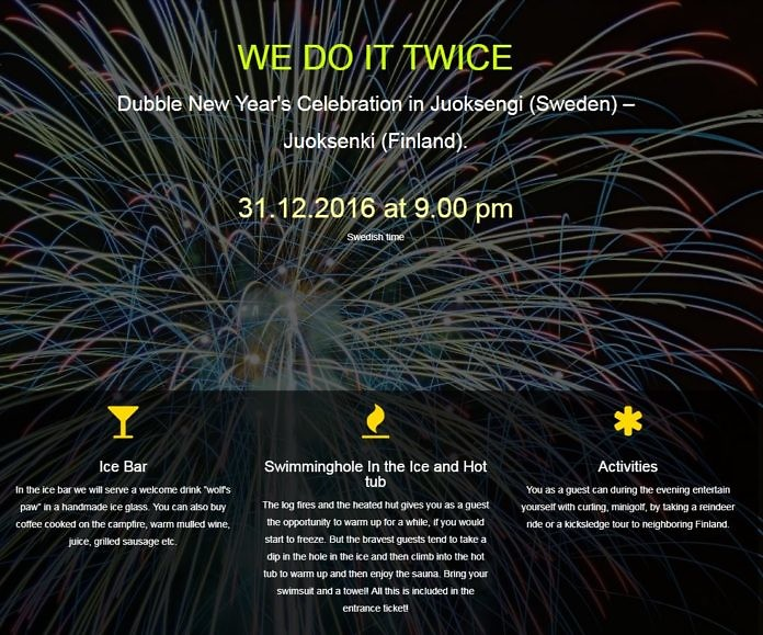 We do it twice - Celebrate New Year twice in an hour in the Juoksengi Arctic Circle village