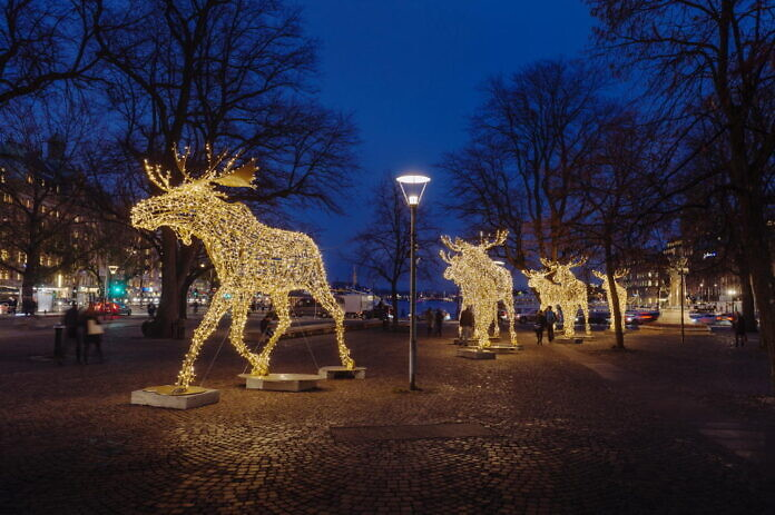 Christmas lighting Stockholm