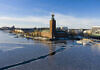 The Stockholm City Hall in winter