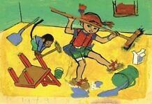 Pippi Longstocking illustrations at Gothenburg Museum of Art