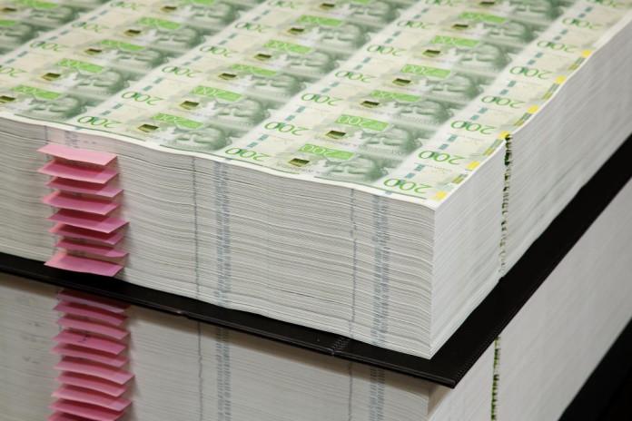 New 200-krona banknotes