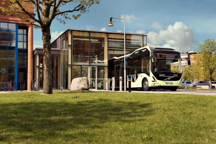 Electric bus at Lindholmen Science Park
