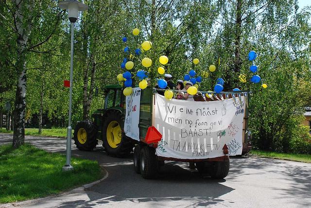 """Studentflak"" at graduation time in Sweden"