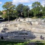 Free outdoor skatepark in central Gothenburg