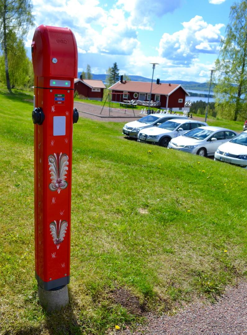 Charging poles at hotels in Dalarna