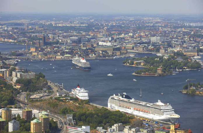 Must-sees in Stockholm - from Fotografiska in the lower right hand corner to the old town in the centre of the photo