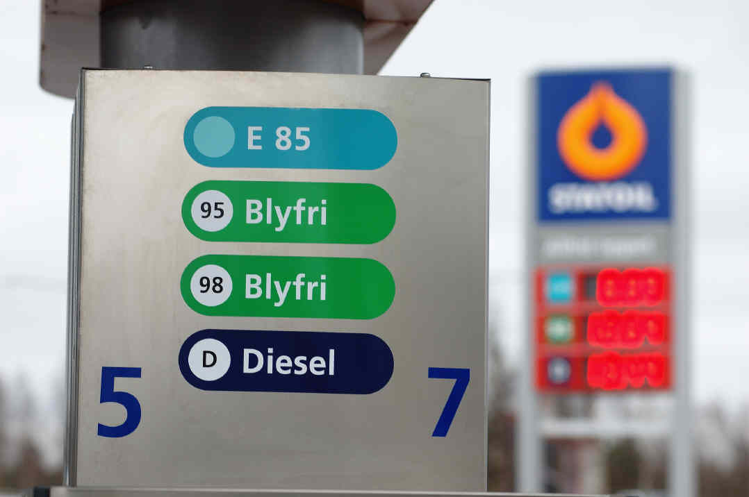 Fuel prices in Sweden: petrol/gasoline and diesel