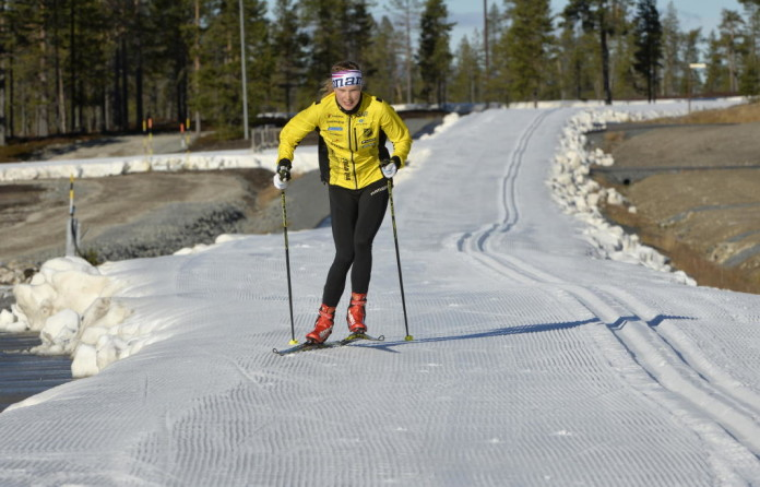 Idre Fjäll cross-country ski track October 16, 2015