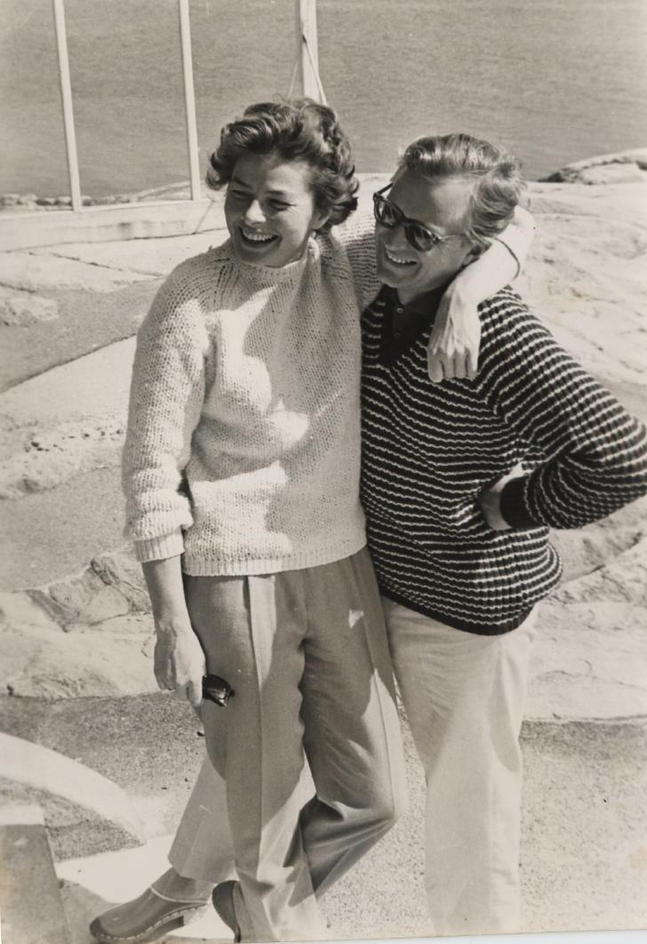 Ingrid Bergman and Lasse Schmidt