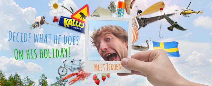 Jeroen from Holland visits Västmanland - and you can decide what he does on his holiday