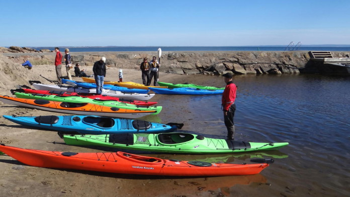 Kayaking in Halmstad in Halland
