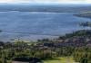 Rättvik's long pier