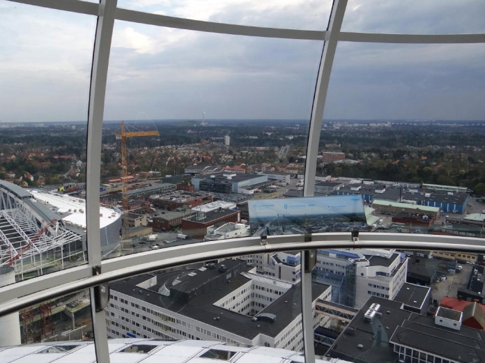 SkyView on top of the Stockholm Globe
