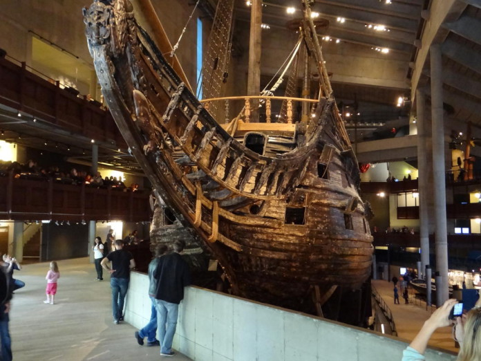 The warship Vasa at the Vasa Museum in Stockholm
