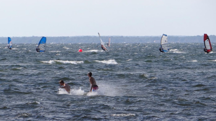 Windsurfing on the island of Öland, Sweden