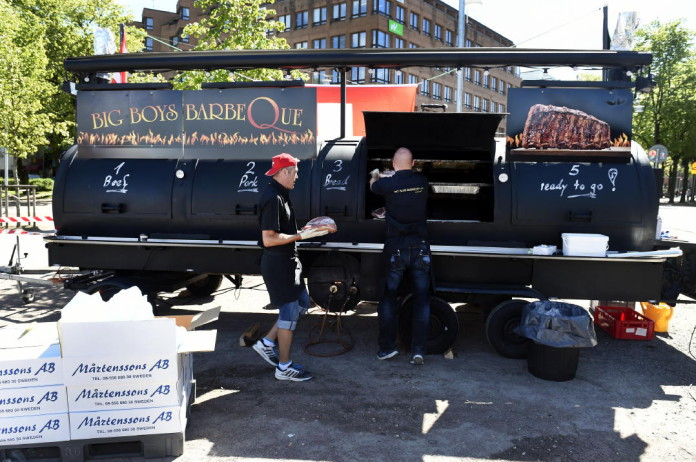 The world's largest grill on the Heden square in Gothenburg